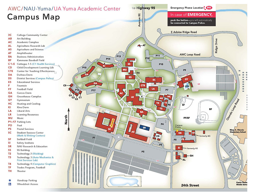 Nau Campus Map Student Tools | CampusMap | NAU Yuma Nau Campus Map